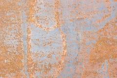 Rosta på metallyttersidor som orsakas av en reaktion av metall- och luftmummel Royaltyfria Foton