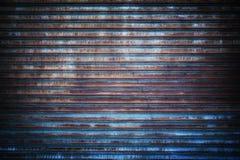 Rostad metallskyddsgallerbakgrund Arkivfoton