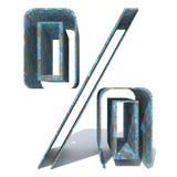 Rostad metallstilsort eller pieceusty material för typ-, järn- eller stålbransch, åldrigt v Arkivfoton