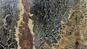 Rostad metalltextur, belägger med metall utsatt för att tajma, rostig gammal metall, metallbakgrund Royaltyfri Fotografi