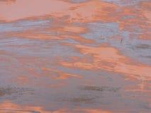 Rostad metalltextur, belägger med metall utsatt för att tajma, rostig gammal metall, metallbakgrund Arkivbilder