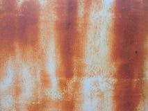 Rostad metalltextur, belägger med metall utsatt för att tajma, rostig gammal metall, metallbakgrund Royaltyfri Bild