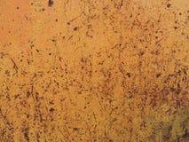 Rostad metalltextur, belägger med metall utsatt för att tajma, rostig gammal metall, metallbakgrund Royaltyfria Bilder