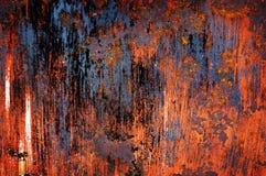 Rostad metalltextur för bakgrund Arkivfoton