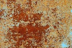 Rostad metallyttersida Royaltyfri Fotografi