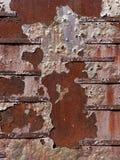 Rostad minnes- vägg för arkmetall royaltyfri bild