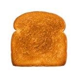 Rostad skiva av vitt bröd Arkivfoton