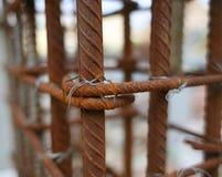 Rostad stålstång Royaltyfri Foto