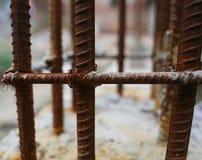 Rostad stålstång Royaltyfri Fotografi