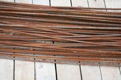 Rostad stålstång Royaltyfria Bilder