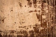 Rostad textur med stekflottmålarfärg Arkivbilder