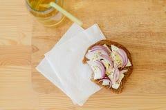 Rostade brödet och drinken Arkivbilder