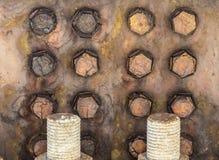 Rostade bultar på bron Royaltyfria Bilder
