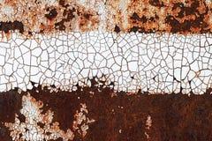 Rostade gammala belägger med metall väggen texturerar Royaltyfria Bilder