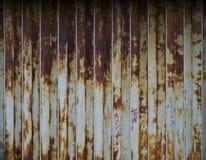 rostade vikande metall för dörren Arkivbild