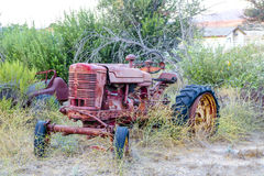 Rostande traktor Royaltyfri Foto