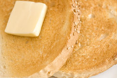 rostat bröd royaltyfri foto