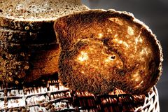 rostat bröd Arkivfoton