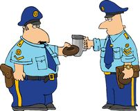 rostat bröd för polis s stock illustrationer