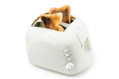 Rostat bröd i en brödrost Royaltyfri Foto