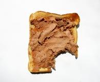 Rostat bröd med pate royaltyfria foton