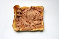 Rostat bröd med pate arkivbilder