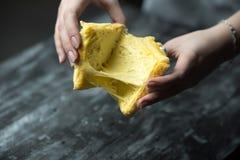 Rostat bröd och ost - bakat rostat bröd med sträckt ost royaltyfria foton