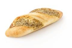 Rostat brödbrödskivor i remsor i metall lägger in Arkivfoto