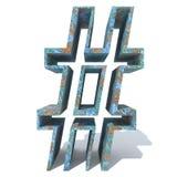 Rostat metallstilsort eller typ-, järn- eller stålbranschstycke Arkivfoto