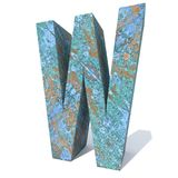 Rostat metallstilsort eller typ-, järn- eller stålbranschstycke Royaltyfri Fotografi