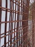 Rostat metalltrådingrepp arkivfoto
