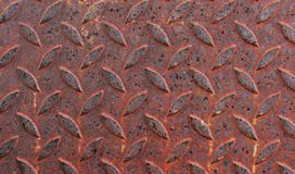 Rostat stålgolv royaltyfri bild