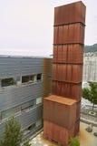 Rostat ventilationsrör Arkivfoto