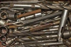 Rostbohrgerät-Werkzeughintergrund der Gruppe alter Lizenzfreie Stockbilder