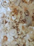Rostdrucke von den Nüssen und von den Schrauben Beschaffenheit in der braunen Farbe Stockbild