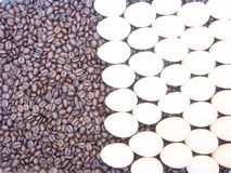 Rosted Coffee Beans With Eggs Royalty Free Stock Photography