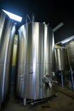 Rostfritt stålbehållare på Oakshire att brygga Arkivbilder