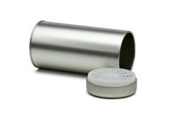 Rostfritt stållagringsmottagare för kaffe och rått te Arkivfoto