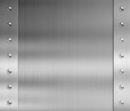 Rostfritt stålmetallram med nitar stock illustrationer
