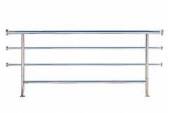 Rostfritt stålräcke som isoleras på vit Arkivfoton