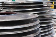 Rostfritt stålskivor Arkivfoton