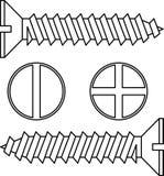 Rostfritt stålskruv. stock illustrationer