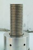 Rostfritt stålskruvtråd Arkivfoton