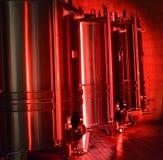 Rostfritt stålvinbehållare Royaltyfri Fotografi