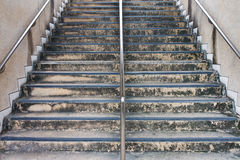 rostfritt trappuppgångstål royaltyfri bild