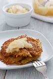 Rosti with Apple Compote Stock Photo