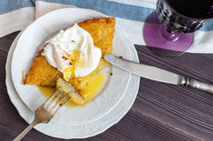 Rosti potatoes with poached egg Stock Image