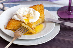 Rosti potatoes with poached egg Royalty Free Stock Photography