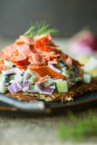 Rosti with Salmon Stock Photography