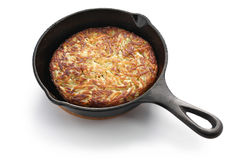 Rosti, Swiss potato pancake Stock Photography